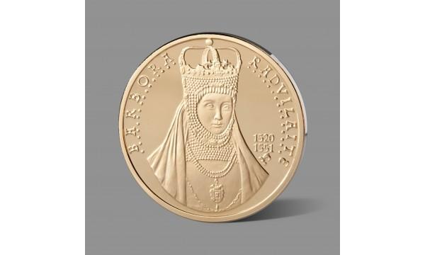 Barborai Radvilaitei skirtas paauksuotas medalis