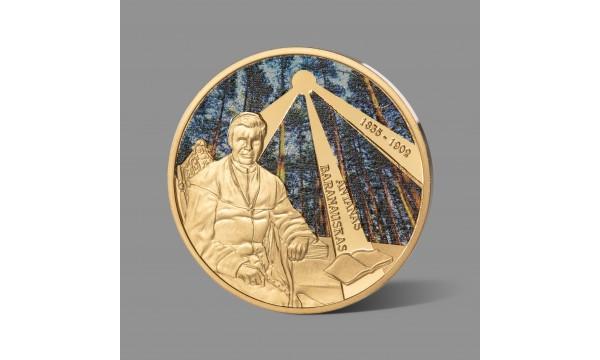 Antanui Baranauskui dedikuotas paauksuotas medalis