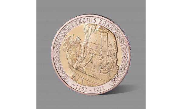 Čingischanui skirtas paauksuotas medalis