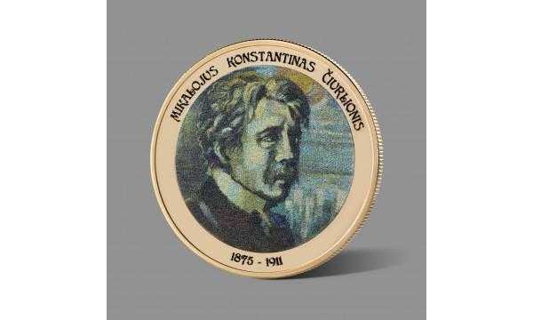 Mikalojui Konstantinui Čiurlioniui skirtas paauksuotas medalis