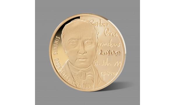 Simonui Daukantui skirtas paauksuotas medalis