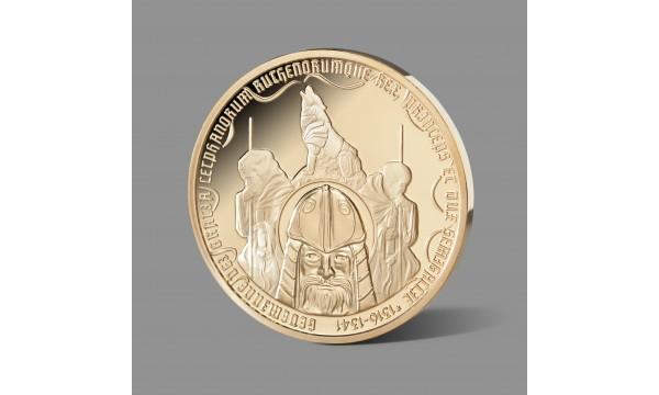Lietuvos didžiajam kunigaikščiui Gediminui skirtas paauksuotas medalis