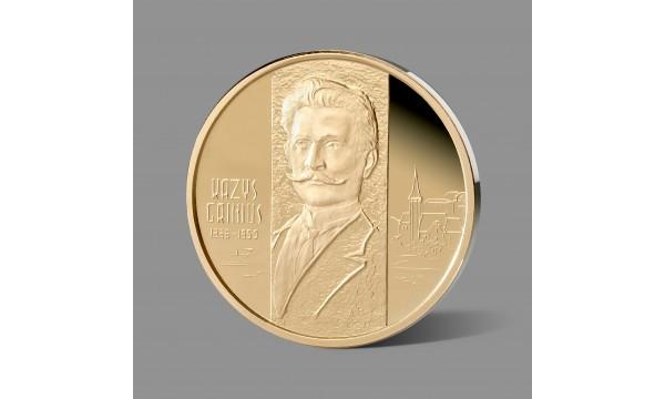 Kaziui Griniui dedikuotas paauksuotas medalis