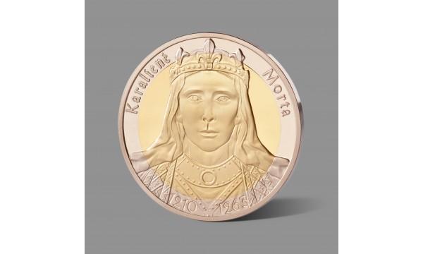 Karalienei Mortai skirtas paauksuotas medalis