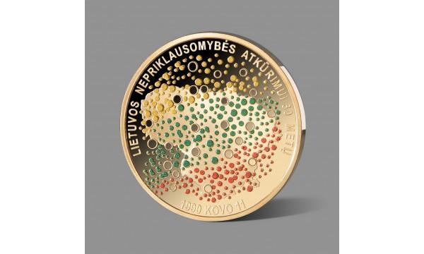 Lietuvos Nepriklausomybės atkūrimo 30-mečiui paminėti skirtas paauksuotas medalis
