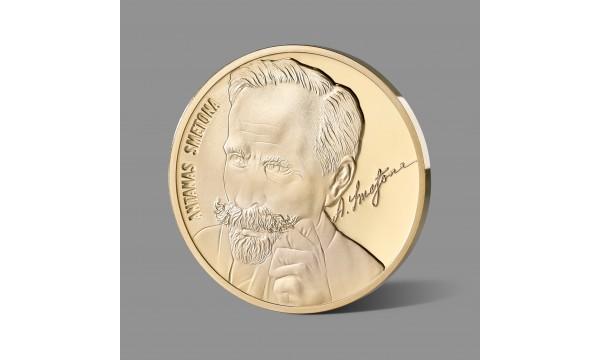 Antanui Smetonai dedikuotas paauksuotas medalis