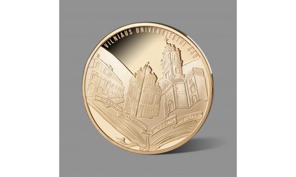 Vilniaus universitetui bei jo 440 metų jubiliejui dedikuotas paauksuotas medalis