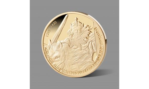 Kunigaikščiui Vytautui Didžiajam dedikuotas paauksuotas atminimo medalis