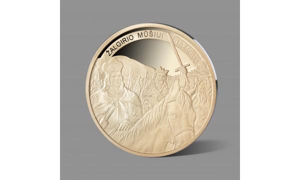 Legendiniam Žalgirio mūšiui dedikuotas paauksuotas medalis
