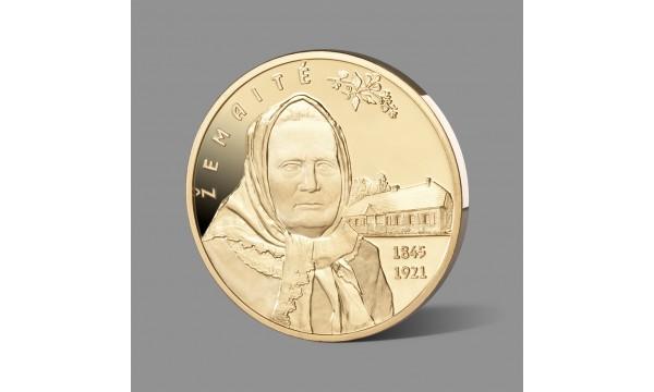 Žemaitei dedikuotas paauksuotas medalis