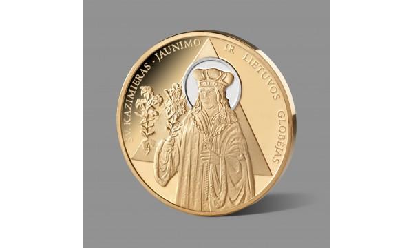 Šventajam Kazimierui, jaunimo ir Lietuvos globėjui, dedikuotas paauksuotas medalis